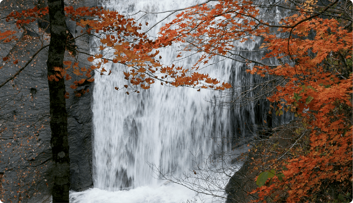 Hakusen Waterfall, Rarumanai Waterfall, Sandan Waterfall