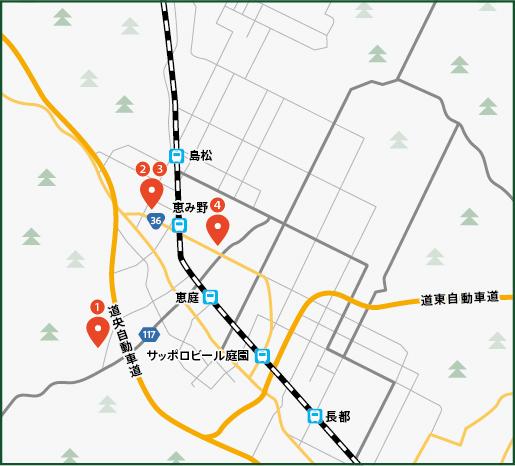 Gardens and Café – Half-Day Courseの地図画像
