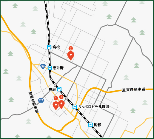 Café, Historical Museum, Hot Spring – Winter One-Day Courseの地図画像